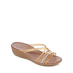 Crocs - Brown 'Isabella' jelly sandals