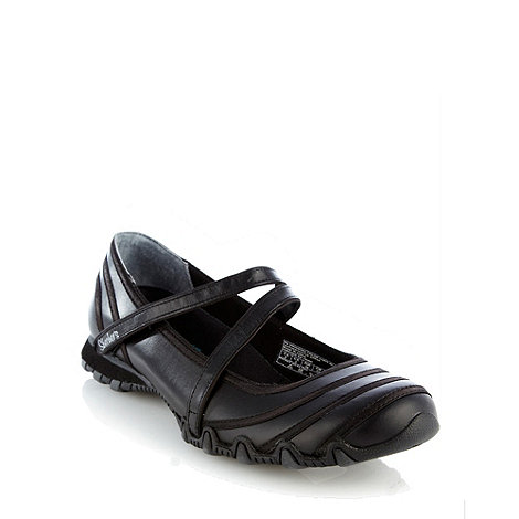 Skechers - Black +bikers ribboneer+ trainers