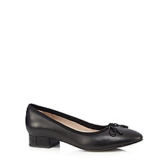 Clarks - Black leather 'Elderberry Isla' ballet pumps
