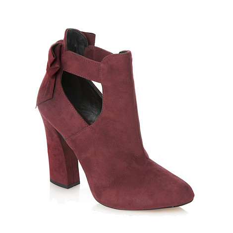 Call It Spring - Dark red +burundia+ high heel shoe boots