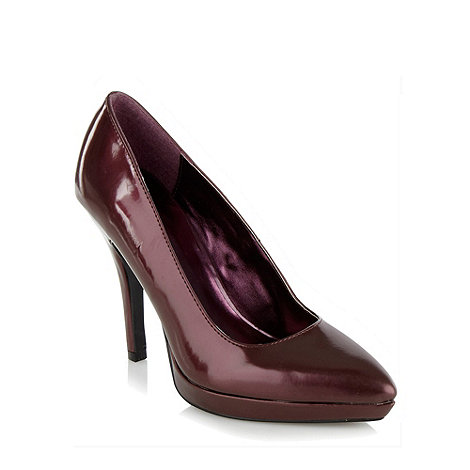 Call It Spring - Maroon metallic high heeled court shoes