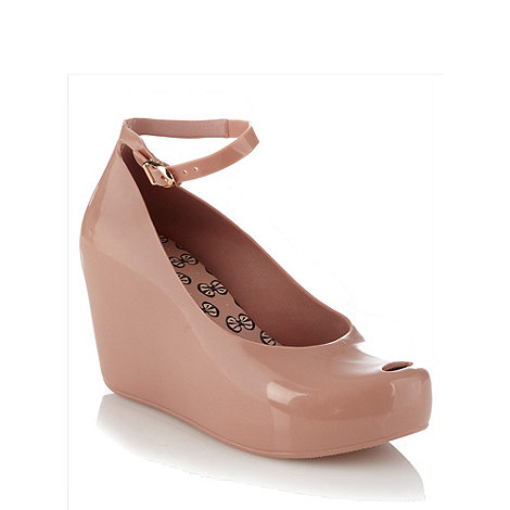 Mel - Taupe wedge heeled sandals
