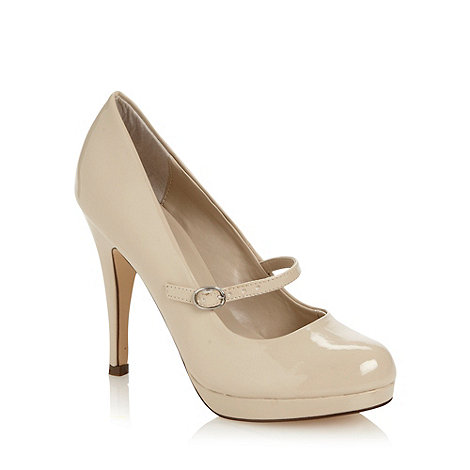 Call It Spring - Cream patent faux leather high heeled mary janes