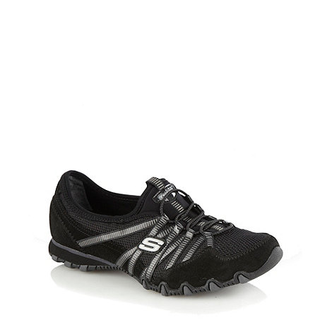 Skechers - Black 'biker's hot ticket' trainers