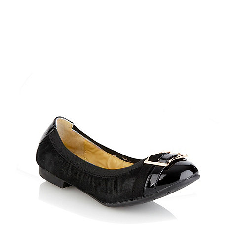 Steptronic - Black suede elasticated pumps
