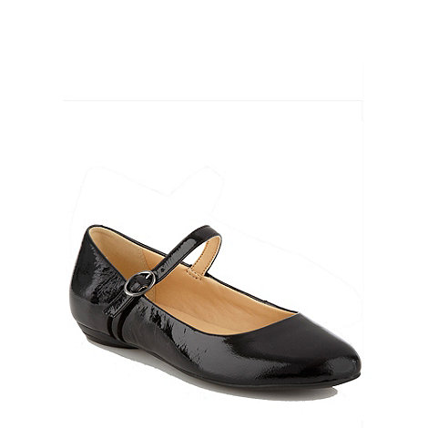 Clarks - Frothy soda patent black patent flat ankle strap shoes