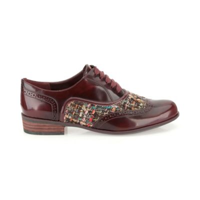 Clarks Ox-Blood leather ´Hamble Oak´ flat laced brogue - . -