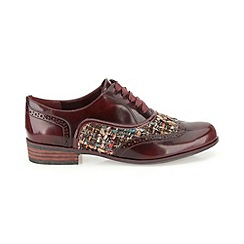 Clarks - Ox-Blood leather 'Hamble Oak' flat laced brogue