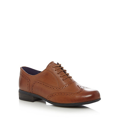 Clarks - Tan +Hamble Oak+ leather brogues