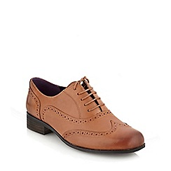 Clarks - Hamble oak dark brown leather mid heel brogues