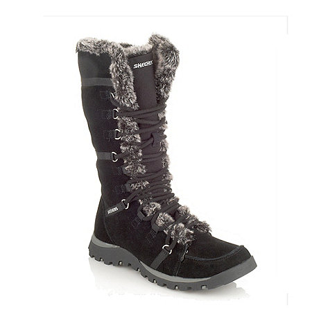 Skechers - Black +grand jams+ faux fur trimmed snow boots