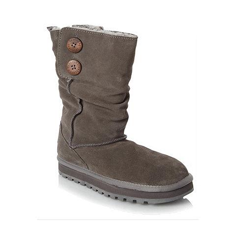 Skechers - Grey suede mid calf boots