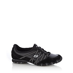 Skechers - Black 'Bikers Dream Come True' bungee shoes
