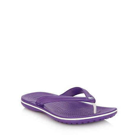 Crocs - Bright purple toe post strap flip flops