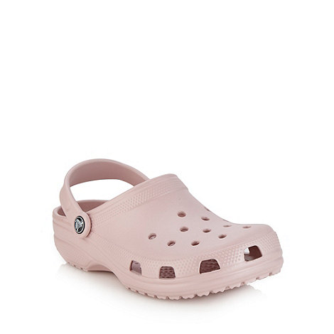 Crocs - Light pink flat essential clogs