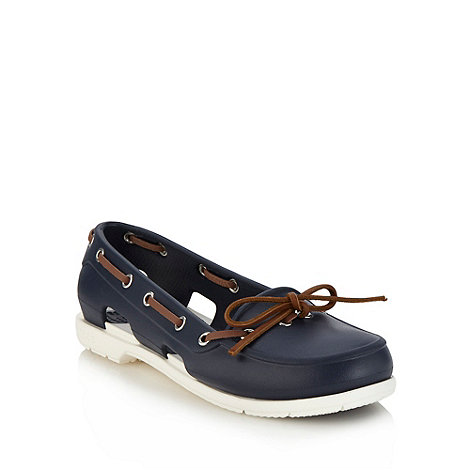 Crocs - Navy flat beach boat shoes