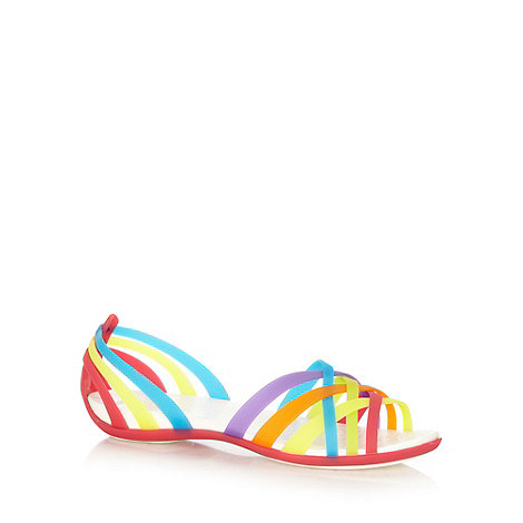 Crocs - Purple flat woven strapped sandals