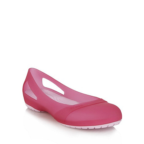 Crocs - Pink flat cut out pumps