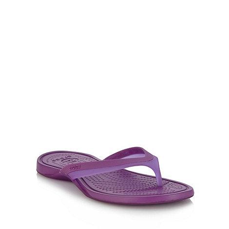 Crocs - Bright purple toe post strap sandals
