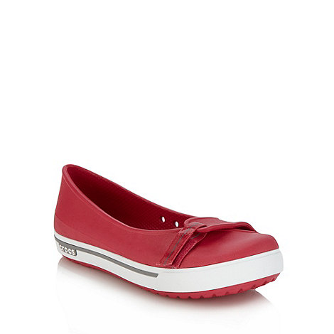 Crocs - Pink adjustable tab ballet pumps