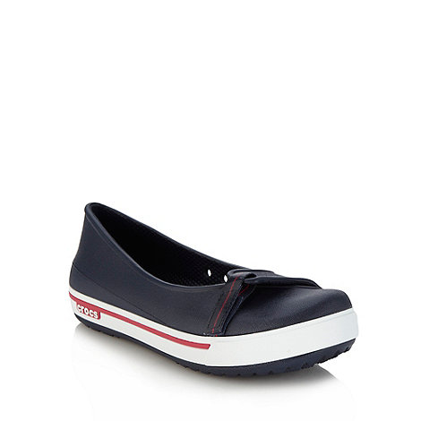 Crocs - Navy adjustable tab pumps