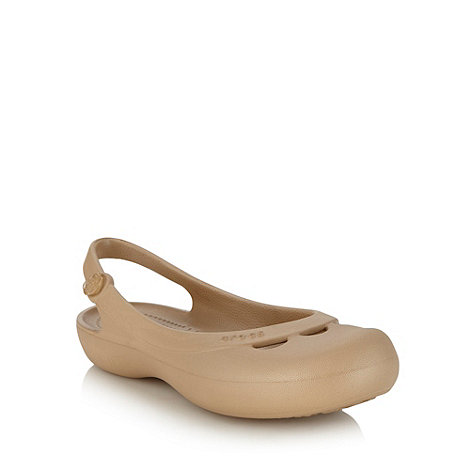 Crocs - Light gold slingback sandals