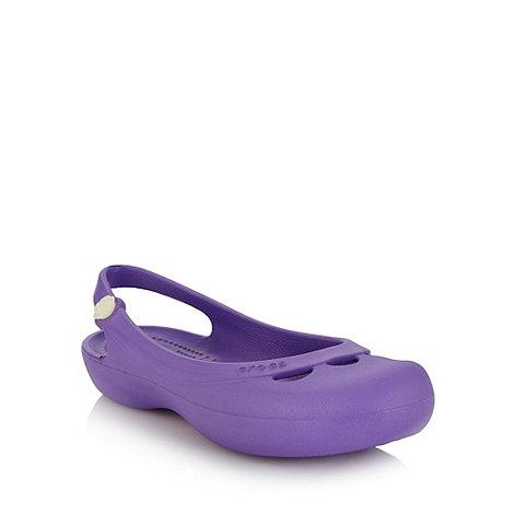 Crocs - Bright purple slingback sandals