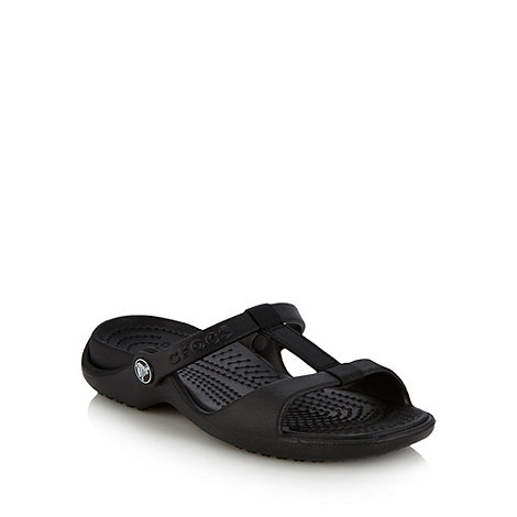 Crocs - Black flat essential sandals