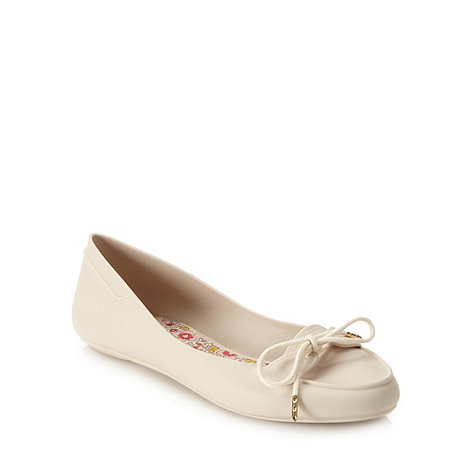 Mel - Beige lace boat shoes