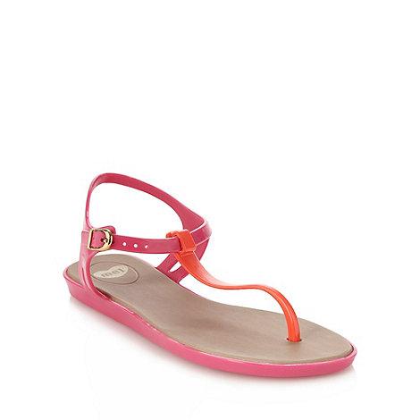 Mel - Pink contrast t-bar sandals