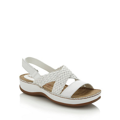 Hush Puppies - White 'cheylon sling' sandals
