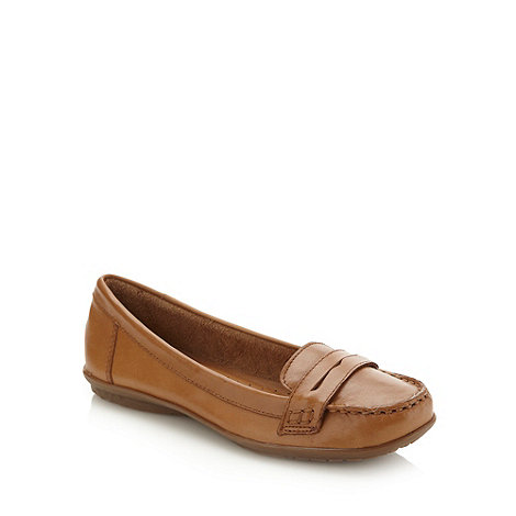 Hush Puppies - Tan cushioned loafers