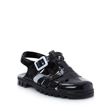 Juju - Black flat jelly sandals