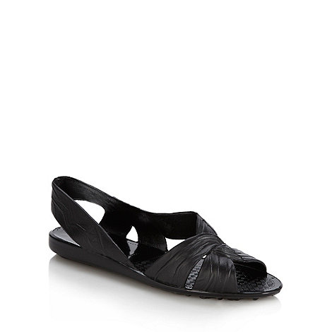 Juju - Black slingback jelly sandals