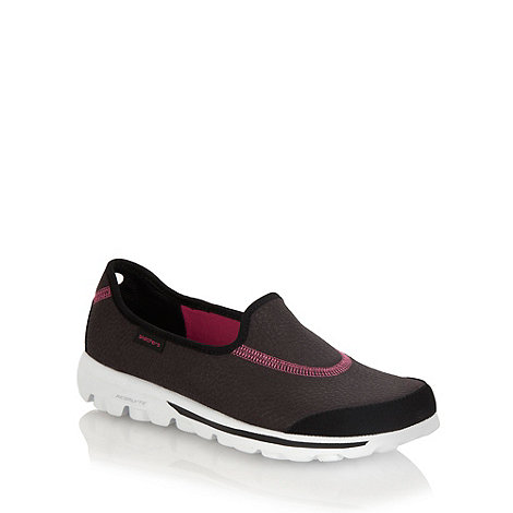 Skechers - Black +go walk ultimate+ slip-on shoes
