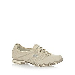 Skechers - Natural 'Dream Come True' suede trainers