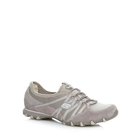 Skechers - Taupe +Bikers Dream Come True+ bungee shoes