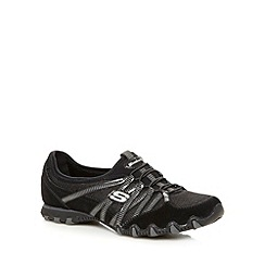 Skechers - Black 'Bikers Hot Ticket' bungee shoes