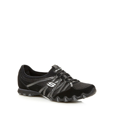 Skechers - Black +Bikers Hot Ticket+ bungee shoes