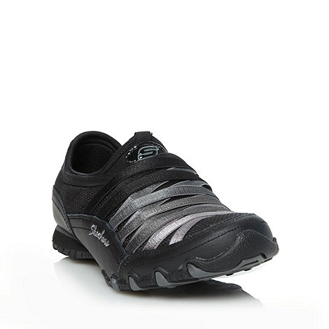 Skechers - Black +bikers funhouse+ slip on trainers