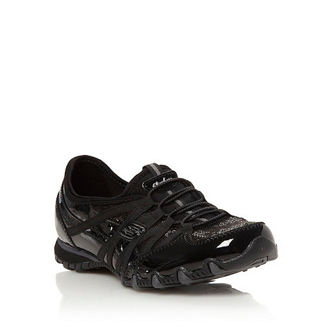 Skechers - Black +bikers notice me+ trainers