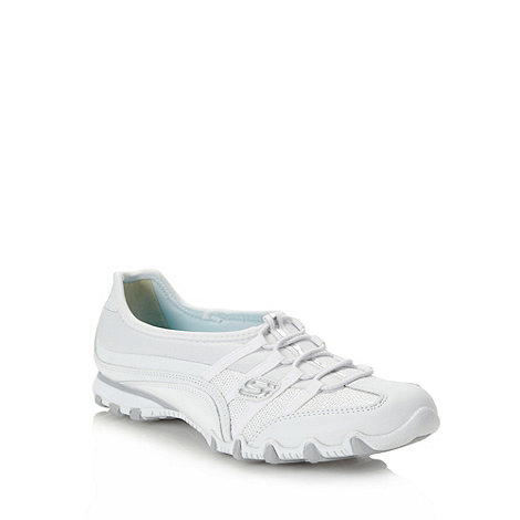 Skechers - White +bikers star struck+ trainers