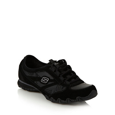 Skechers - Black +bikers embroidery+ trainers