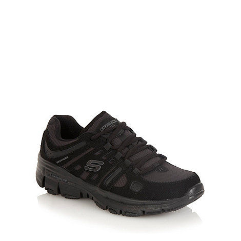 Skechers - Black +bravos undercover+ trainers