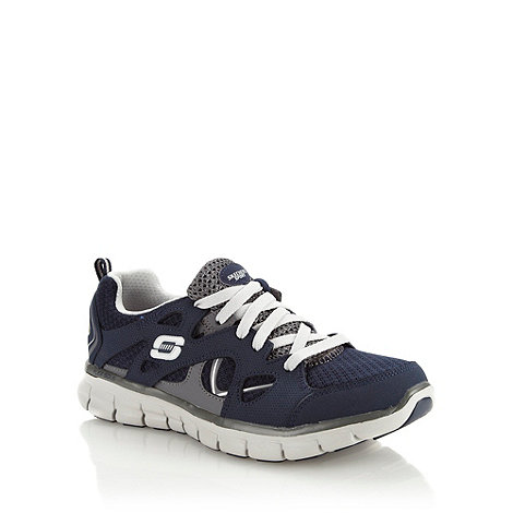 Skechers - Navy +synergy ultimatum+ trainers