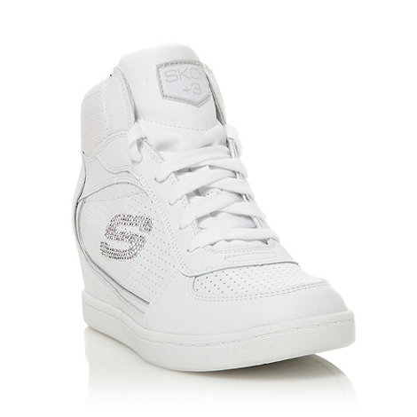 Skechers - White +plus 3+ wedge heeled trainers