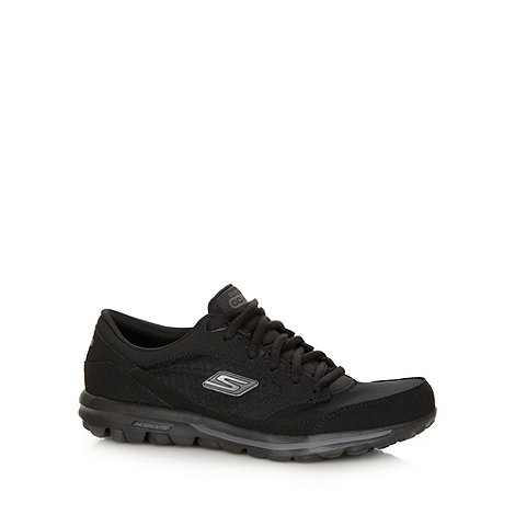 Skechers - Black +GOwalk Baby+ lace up shoes