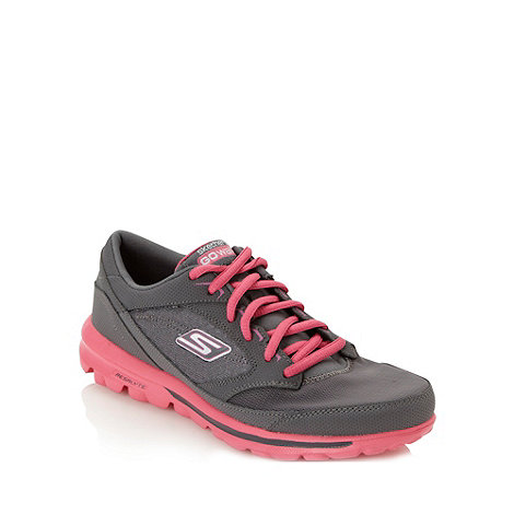 Skechers - Grey +go walk baby+ trainers