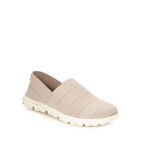 Skechers - Grey +go walk oasis+ slip on shoes