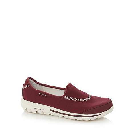Skechers - Dark red +GOwalk Original+ washable slip on shoes